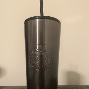 Starbucks Other - Black & silver Starbucks cold cup